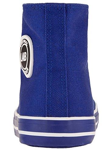oodji Ultra Homme Baskets Montantes en Textile Bleu (7500N)