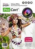 Premium haute brillant papier photo professionnel RC 13x 18260g