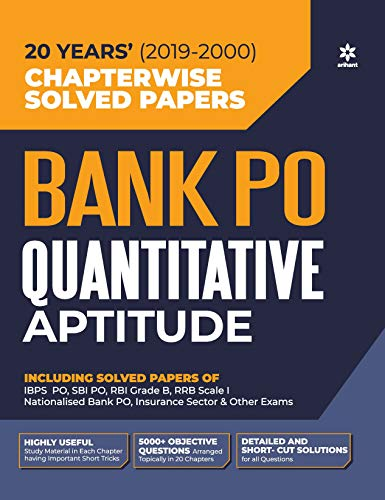 Bank PO Solved Papers Quantitave Aptitude 2020