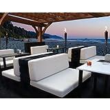 Juego de cojines de asiento y respaldo para palet spu2005001