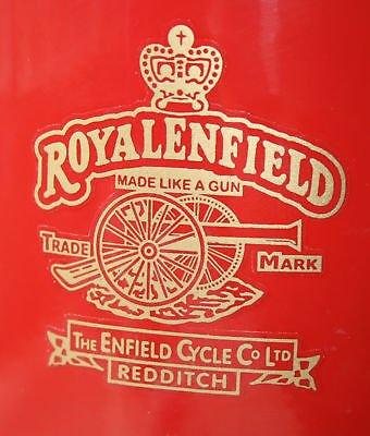 ROYAL ENFIELD Tank Helm Rahmen GOLD sticker aufkleber
