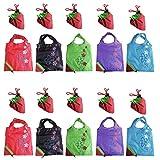 Fligatto 5 piezas varios colores diseño de fresas plegable ECO bolsa bolsas de la compra reutilizable