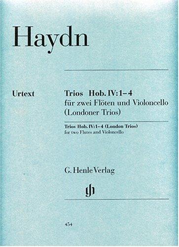 Trios Hob.IV:1-4 (Trios de Londres) --- Flûtes (2)/Violoncelle