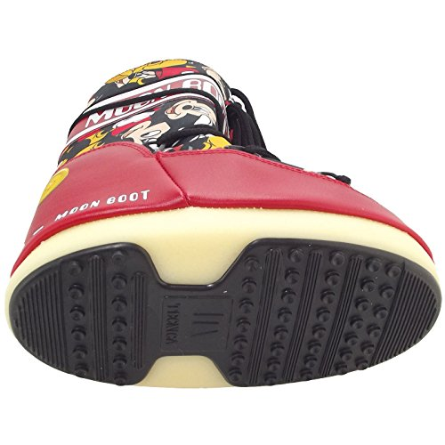 Moon Boot Jr Mickey, Moonboots mixte enfant rouge/noir (rosso/nero)