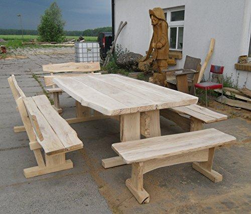 Gartenmöbel, Sitzgruppe, Eiche 250cm, 4 Bänke