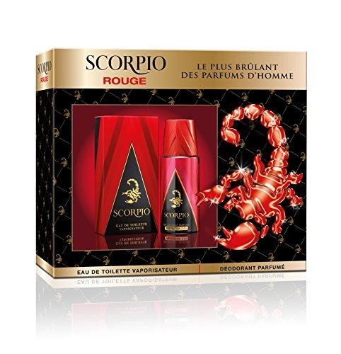 Scorpio Rouge - Coffret 2 Produits -  Eau de Toilette Flacon 75 ml/Déodorant Atomiseur 150 ml