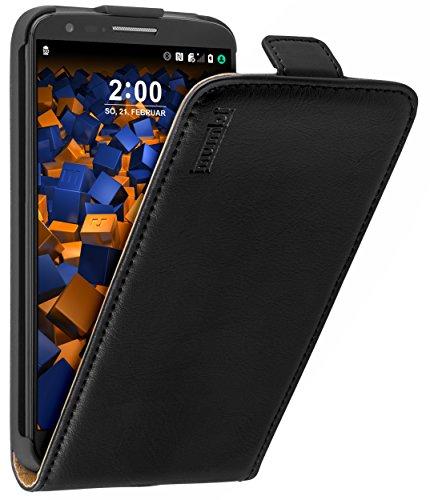 mumbi PREMIUM Leder Flip Case für LG G2 Tasche