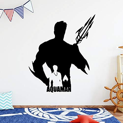 zhuziji Kreative Aquaman Wandkunst Aufkleber Wandaufkleber Wandbild PVC Wandtattoos Home Party Decor Wa 57 cm X 66 cm