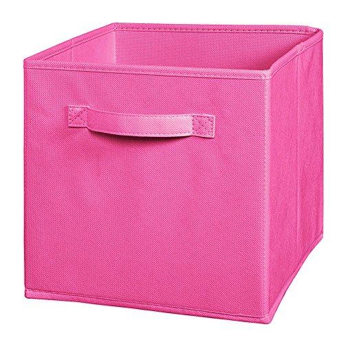 Preisvergleich Produktbild Dekorative Aufbewahrungsboxen Stoff Cube Faltbarer Korb Multifunktion Bin Rosa