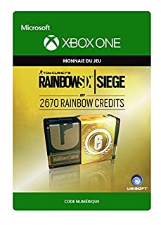 Tom Clancy's Rainbow Six Siege Currency pack 2670 Rainbow credits [Xbox One - Code jeu à télécharger] (B06WVBCFBX) | Amazon price tracker / tracking, Amazon price history charts, Amazon price watches, Amazon price drop alerts