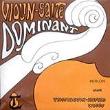 Thomastik Cuerdas para violín Dominant alma en nylon, juego 4/4 fuerte con Mi en acero entorchado aluminio