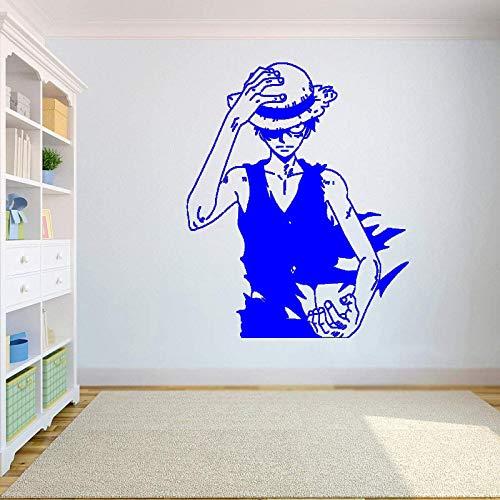 guijiumai Gadgets Wrap One Piece Wand Vinyl Aufkleber Top Anime Wandkunst Monkey D. Ruffy Vinyl Aufkleber Dekor Für Zuhause Schlafzimmer Design Hz 7 57x65 cm (Versace Wraps)