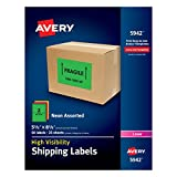 Best Avery Color Laser Printers - Avery High-Visibility Neon Shipping Labels for Laser Printers Review