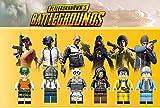 Modbrix Lot de 6 Figurines de PlayerunkNOWN'S avec fusils à tenons et Armes