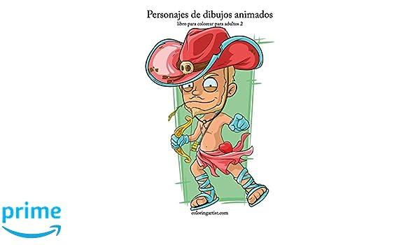 Personajes de dibujos animados libro para colorear para adultos 2 ...