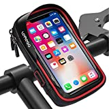 LEMEGO Waterproof Bike Phone Mount Holder Pouch Bag,Universal Bicycle Rear Handlebar Pouch