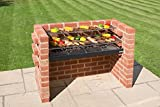 Brick BBQ kit with Heavy duty Cooking grill + Warming Rack Conforms to BS EN 1860:2013-1 for Design Safety & Quality BKB 881