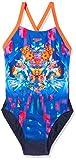 Speedo Mädchen Dreamscape Fusion Placement Digital Crossback Swimsuit, Blau (Navy/Fluo Orange/Turquoise), 152