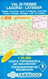 Fleimstal, Lagorai, Latemar: Wanderkarte Tabacco 014. 1:25000 (Cartes Topograh)