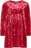 NAME IT Mädchen Festkleid mit Plisseerock Langarm NMFSELINA, Größe:92, Farbe:Jester red