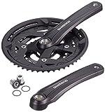 Shimano 2092822600 Kettenradgarnitur, schwarz, 17.5 x 17.5 x 3 cm