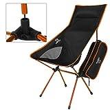 ICOCO Klappbarer Campingstuhl mit Tragetasche kompakter,  Angeln Orange