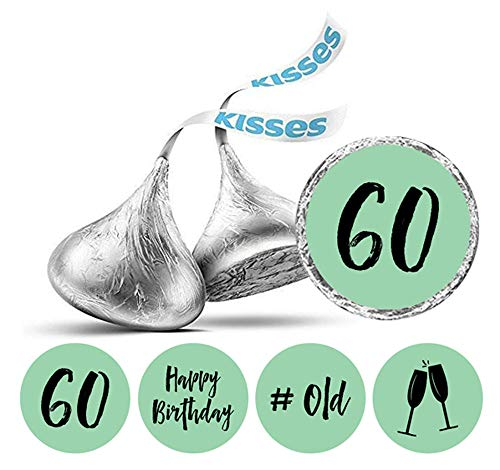 Darling Souvenir Hershey Kisses Labels 60. Geburtstag Aufkleber Packung mit 190 Stück Partei Favor-Mint