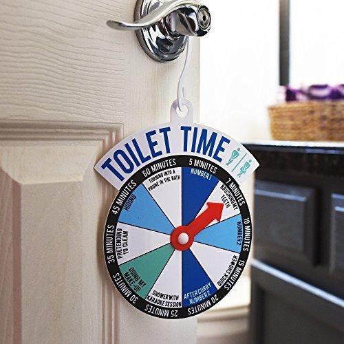 Boxer Badezimmer Tür WC-Zeit Spinner-Zeichen-Lassen Sie die Welt Wissen, Wie Lange Ihr Going, und, Warum -