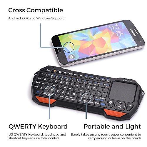 Mini-Bluetooth Funktastatur, COOPER MAGIC WAND universelle, tragbare Funktastatur mit Hintergrundbeleuchtung und Touchpad - 2