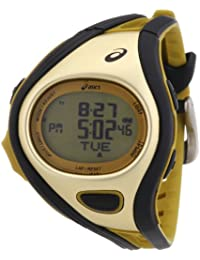 Asics Unisex Quartz Watch with Digital Challenge S SCHWARZ/GOLD Digital Plastic Sports Watch CQAR0309
