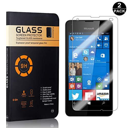 Bear Village® Nokia Microsoft Lumia 550 Displayschutzfolie, 9H Härtegrad Displayschutz, Keine Luftblasen, 3D Touch Schutzfilm aus Gehärtetem Glas für Nokia Microsoft Lumia 550-2 Stück