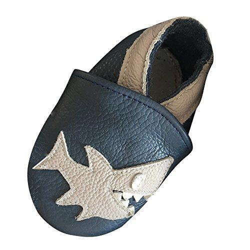 LSERVER Zapatos Cuero Suave bebés Primeros
