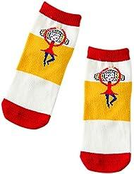 Fablcrew Chaussettes Enfant Chaussettes de Coton Mignonnes pour Enfants Chaussettes Unisexe Colorées