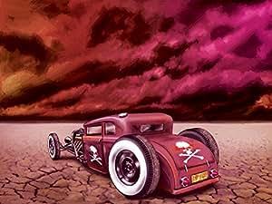 Muscle Cars Motiv, 3-teilig auf Leinwand (Gesamtformat: 120x80 cm), Hochwertiger Kunstdruck als Wandbild. Billiger als ein Ölbild! ACHTUNG KEIN Poster oder Plakat!