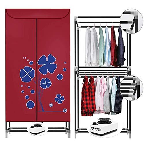Stendibiancheria portatile 1200w stendipanni elettrico lavanderia 50lb risparmio energetico (anione) 1,5 m asciugabiancheria modalità alta efficienza con temporizzazione automatica