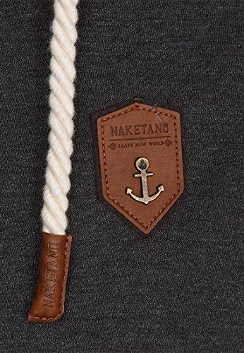 Naketano Male Zipped Jacket Fucking for Freedom Anthracite Melange - Black