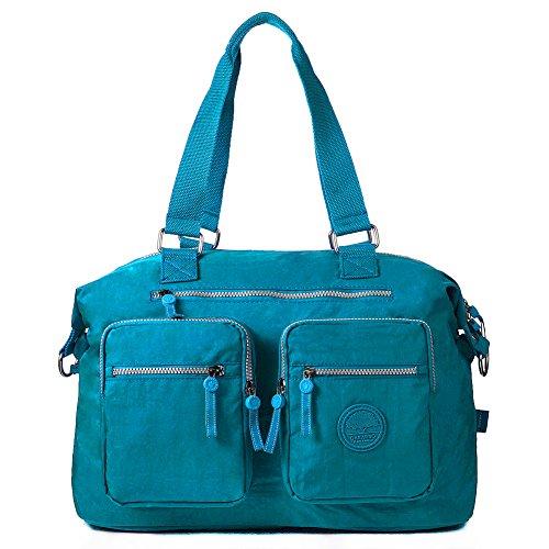 Oakarbo, Borsa tote donna blu 1212 Turquoise blue large 1212 Turquoise blue