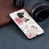 Handy schützen, Hülle Für Samsung Galaxy A8 2018 / A5 (2018) Muster Rückseite Blume Hart PC für A5(2018) / A3 (2017) / A5 (2017) für Samsung (Farbe : Rosa, Kompatible Modellen : Galaxy A8 2018)