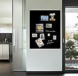 selbstklebende magnetische Tafelfolie 100x150 - schwarz -