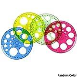 Règle de rapporteur circulaire 360 degrés pour étudiants - Outils de papeterie et dessin - 4 pièces - Couleurs aléatoires