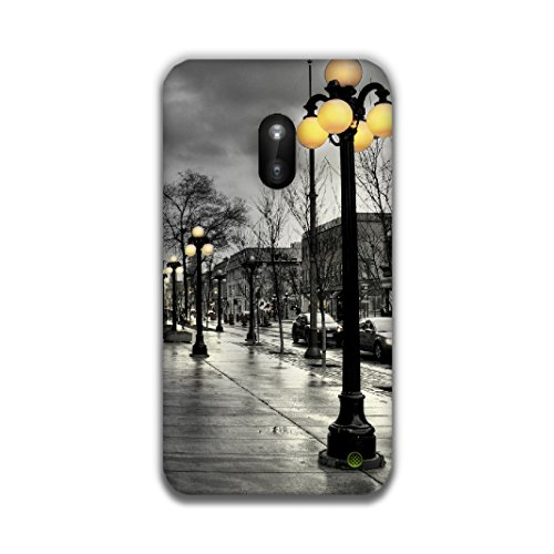 The Racoon Lean printed designer hard back mobile phone case cover for Nokia Lumia 620. (street lig)  available at amazon for Rs.99