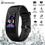 Fitness Tracker,Zeerkeer Montre Connectée Bracelet Connecté Étanche IP68 Bluetooth Smartwatch d'Activité Cardiofréquencemètre Podomètre,pour Homme Femme Enfant pour Android iOS