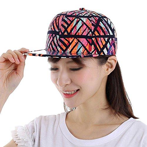 Butterme Unisexe Mode Chapeau Fleur Réglable Casquette de Baseball Hip-Hop Casquette Snapback Caps noir