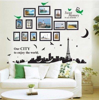 Aha Yo-Photo Frames, Wand - Aufkleber, Kinderzimmer, Wohnzimmer, Schlafzimmer, Wohnzimmer Mit Sofa, Hintergrund - Wand, Dekorative Wand, Heimwerker,Frame Silhouette 2