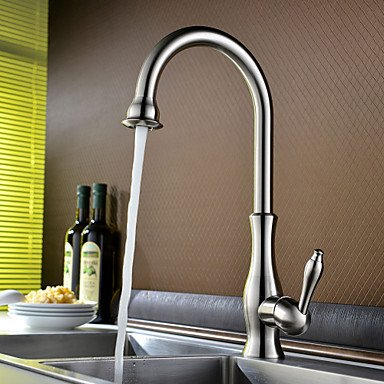 SHUYOU® Contemporary Nickel Brushed One Hole Single Handle Kitchen Faucet