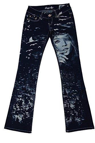 Damen Jeanshosen außergewöhnlich verrückt unikat weltweit nur 1 X mal produziert von Crazy Age Love Girl