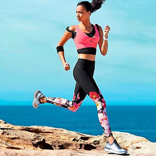 weiblich Yoga Sport Frauen Print Sport Gym Yoga Laufen Fitness Leggings Hosen Athletic Training Cropped Trouser Cropped Athletic Hosen