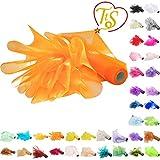 TtS 29CM X 26M (Burnt Orange) Rotolo Organza Tessuto Runner da Tavolo Elegante Coprisedia Fiocchi Matrimonio Poltrona Fiocchi Bomboniere