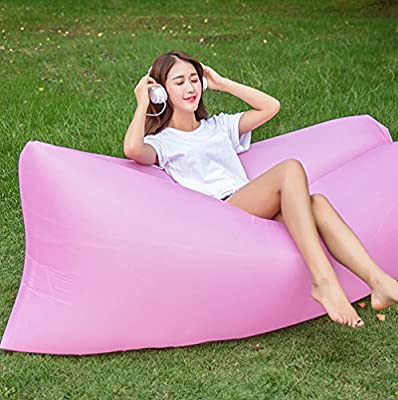 Waterproof Inflatable Lounger Portable Inflatable Sofa Air Bed Sleeping Sofa Couch, Outdoor Beach, Travel, Camping - inexpensive UK light store.