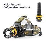 CiSiRUN Headlamp Headlight Head Torch,3 Modes Weatherproof Head Lamp for Biking, Cycling, Climbing